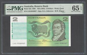 Australia 2 Dollars ND(1985) P43e Uncirculated Graded 65