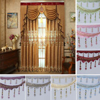 1m Curtain Sewing Tassel Fringe Trim Tassel Crystal Bead Lace Accessory Craft