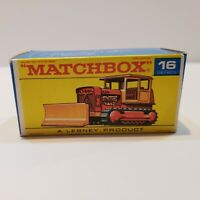 MATCHBOX Lesney Fred Bronner #16 CASE TRACTOR ORIGINAL Vintage Box NM+++!!!