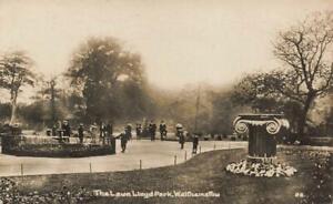 1921 WALTHAMSTOW Lloyd Park The Lawn  LONDON Photo  Postcard