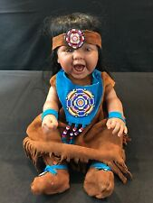Berenguer Doll Indian Tribe Ooak See Description Handmade Clothes