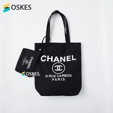 New Chanel VIP Gift 31 Rue Cambon Canvas Tote bag + Storage bag Black