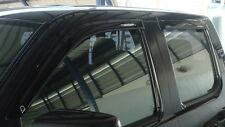 4DOOR BLACK WIND SHIELD DEFLECTOR WEATHER FORD RANGER 4x4 PJ PK XLT UTE 06-11 09