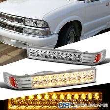 Fit 98-04 Chevy S10 Blazer Sonoma Pickup Clear LED Bumper Signal Parking Lights