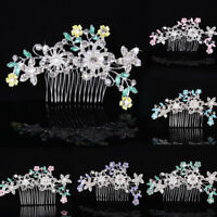 HK- Wedding Bridal Imitation Pearl Rhinestone Hair Comb Hairpin Clip Jewelry Fas
