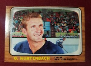 1966-67 Topps #25 ORLAND KURTENBACH New York Rangers