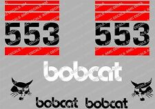 BOBCAT 553 SKID STEER DECAL STICKER SET