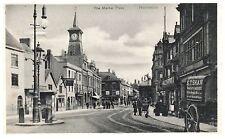Postcard Market Place Coventry St Peacock Inn Nuneaton Warwickshire 1904 Date 12