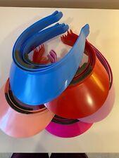 Lot Of 24 Kids Plastic Craft Sun Visors Red, Light Pink, Fushia, Blue, Lavender