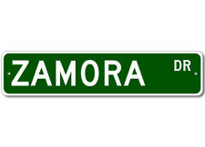 ZAMORA Street Sign - Personalized Last Name Sign