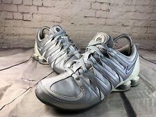 Nike Women's 2006 SHOX Running Training Sneakers Shoes White/Silver/Blue Sz 9.5