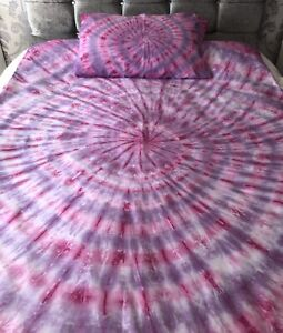 DOUBLE Tiedye Bedding Duvet Cover Sets ALL COLOURS. Bed Cover Hippy