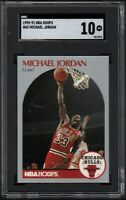 1990 NBA Hoops #65 MICHAEL JORDAN HOF All-Star SGC 10 GEM MINT