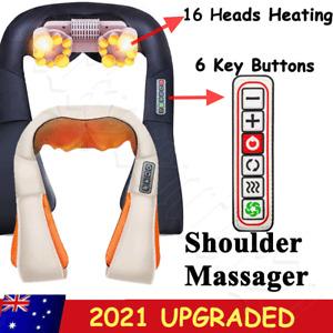 Neck Shoulder Massager Back Body Shiatsu Massage Heating Deep Knead Wrap Care
