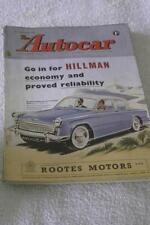 February Autocar Cars, Pre-1960 Magazines in English