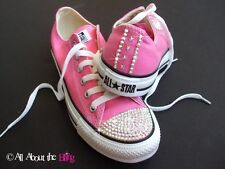 CONVERSE ALL STAR Pink with SWAROVSKI CRYSTALS AB & STARS WOMEN'S 5-9.5