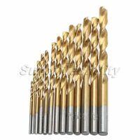 13Pcs HSS Twist Drill Bit Set High Speed Steel Tool Straight Shank 1.5-6.5mm New
