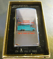 Vintage RARE NEW 1975 Tire Service Truck slim ZIPPO Lighter New in BOX w/ Papers
