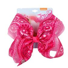 """7"""" Amoeba Printed Hair Bows With Metal Clips For Kids Girls Large Bows Hairgrip"""