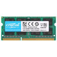 Für Crucial 4 GB DDR3L-1600M Hz PC Laptop Speicher PC3L-12800 SO-DIMM