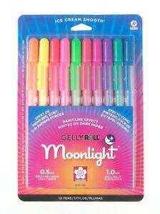 Sakura 38176 Gelly Roll Moonlight Set of 10 Pens Sketch Drawing Art Craft NEW