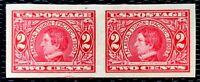 1909 US Stamp SC#371 2c imperf. Pair William Seward MNH/OG