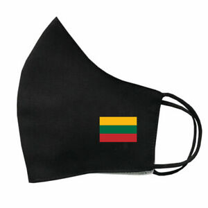 Lithuania Flag cotton Face Mask Protective Covering Washable Reusable Lithuanian