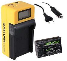 Patona Premium Akku 2040mAh Infochip + LCD Ladegerät für Canon LP-E6 LP-E6N