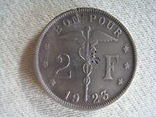 2 francs belgique 1923