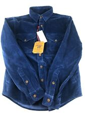 POLO Ralph Lauren Mens Blue Corduroy Hunting Workshirt Size S | RRP £150