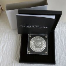 2015 BATTLE OF WATERLOO 88mm SILVER LAYERED PISTRUCCI MEDAL - complete