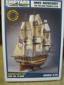 HMS MERCURY LASER CARDBOARD KIT SHIPYARD 1:72 ZL006