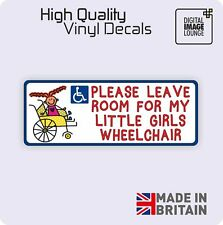 Disabled Girl Disability Mobility Wheelchair Car Parking STICKER / VINYL DECAL