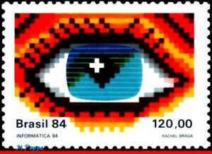 1960 BRAZIL 1984 INFORMATICS FAIR & CONGRESS, EYES, MI# 2077 RHM C-1423, MNH