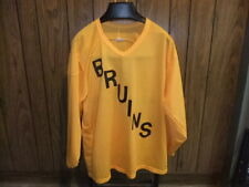 vintage Boston Bruins jersey mesh yellow large #1 70s or 80s
