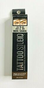 Maybelline New York Tattoo Waterproof Eye Brow Gel (Chocolate Brown #258) New