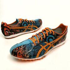 ASICS Gunlap Spike Track Running Shoes, Men's Size 11.5 Eu46 Blue/Orange EUC