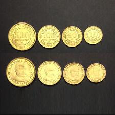 [B-3] Peru Set 4 Coins, 10 50 100 500 Soles De Oro, 1984, UNC