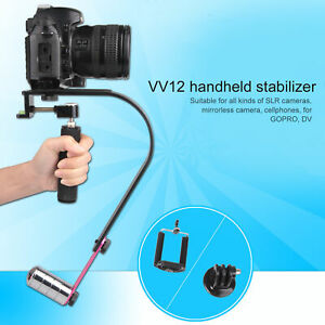 VV-12 Handheld Video Stabilizer with Counterweights Loading 15kg for SLR Camera