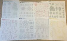 Cross Stitch Magic Iron On Fabric Transfer Sheets X8 Leaves Snow Hearts Flowers
