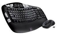 Logitech MK550 Wireless Wave Desktop Ergonomic K350 Keyboard & M510 Laser Mouse