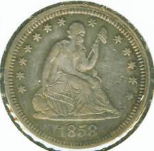 1858 Seated Liberty Quarter - Choice EF
