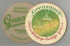 Bier der Grenzquell Brauerei, H. Günnel, Wernesgrün, Bierdeckel, VK, Vorkrieg c