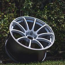 18x10.5 +22 Varrstoen MK9 5x114.3 Silver RIM Fits Mitsubishi Evolution EVO 8 9 X