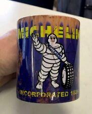 Rusty Michelin Design Oil Tin Mug. 11oz.