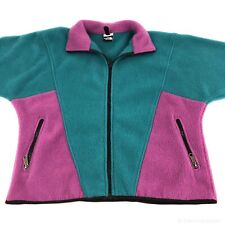 Vintage 90s The North Face Womens Size S Fleece Jacket Colorblocking Usa Made