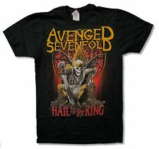 "AVENGED SEVENFOLD ""NEW DAY RISES TOUR 2013 (OSHKOSH-RIO)"" BLACK T-SHIRT NEW 2XL"