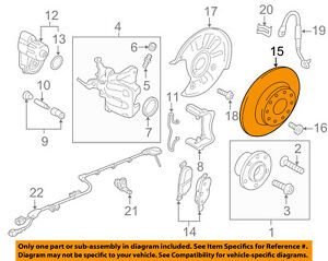 VW VOLKSWAGEN OEM 09-16 CC Rear Brake-Rotor 5Q0615601E
