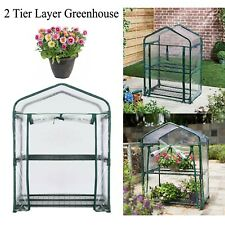 Greenhouse 2 Tier Layer Cover For Plants Grow Garden Flower & Vegetable Shed Uk