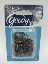 50 Goody Brunette Blonde Ouchless No Metal Elastics Small Mini Shiny Hair Bands